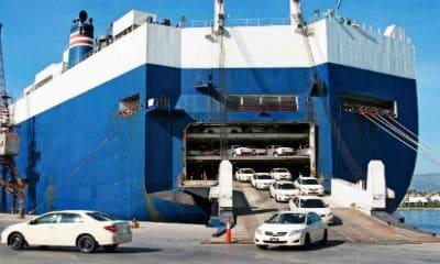 cars leaving ship in Sydney